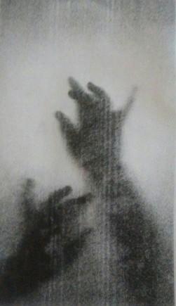 reaching through