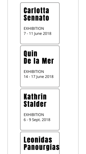 One Artist a Week exhibitions