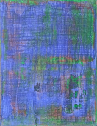 Earth Bound, fresco on panel, 2018