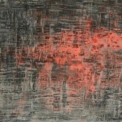 Emergence, fresco on panel, 2018