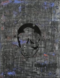"""Keyhole 1, fresco on panel, 18x14"""""""