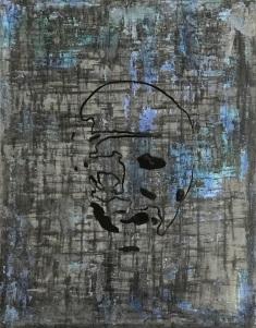 """Keyhole 3, fresco on panel, 18x14"""""""