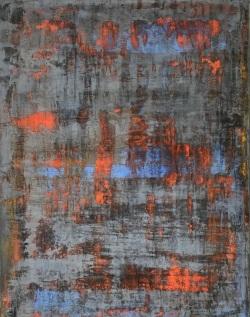 Let the Silence Speak, fresco on panel, 2018