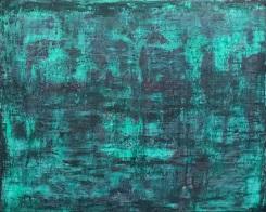 Mer, fresco on panel, 2018