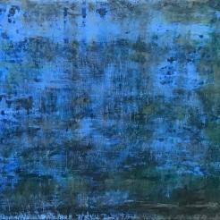 Radiant Convergence, fresco on panel, 2018