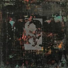 """Keyhole 4, fresco on panel, 20x20"""""""
