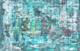 """J. Grahn Revolutionary, fresco on panel, 24x36"""""""