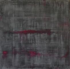 """Topography of Pink Noise, fresco on panel, 20x20"""""""