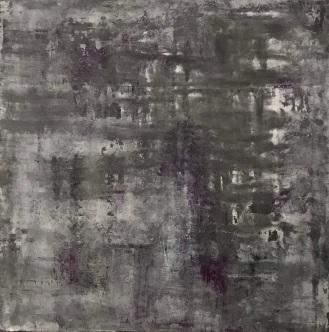 """Veils, fresco on panel, 20x20"""""""