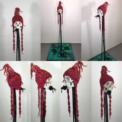 Black Snake Silent, mixed media sculpture