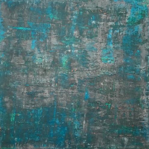 "Malpirgay, fresco on panel, 36x36"""