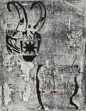 "sYzYgY (album cover), fresco on panel, 18x14"", 2019"